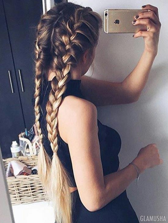Как вплести волосы в косу