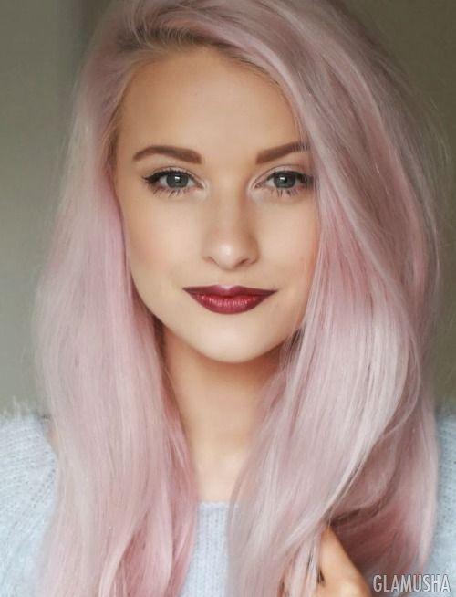 Серо розовый цвет волос