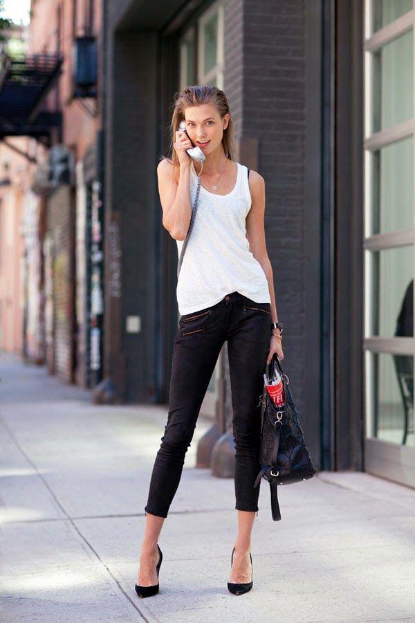 Черно-белые аутфиты и лучшие streetstyle образы