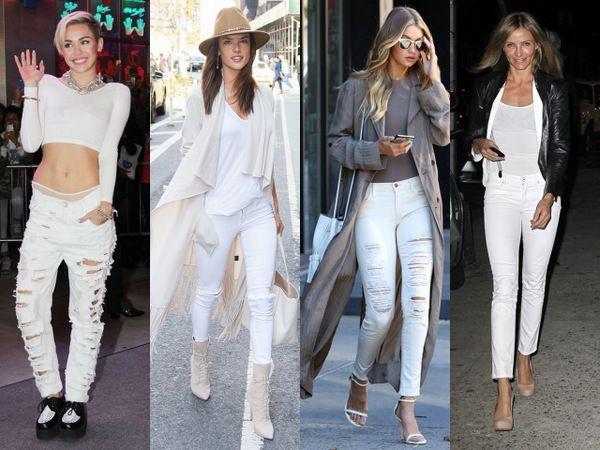 Белые джинсы: с чем носить - 18 свежих образов с фото