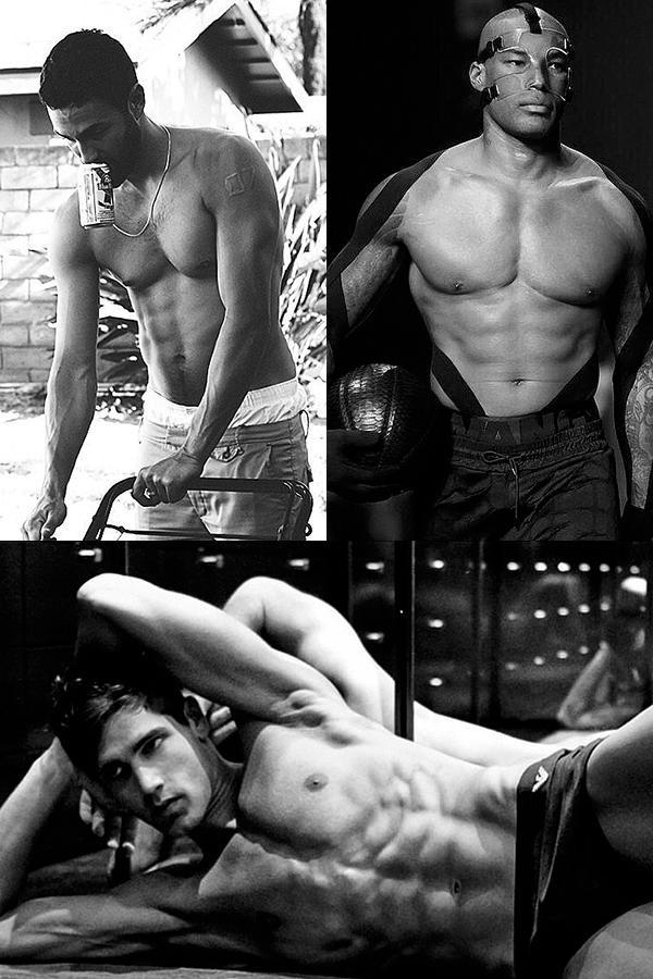 Мужчины-модели без рубашек