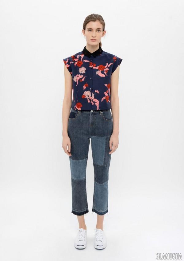 Лоскутные джинсы
