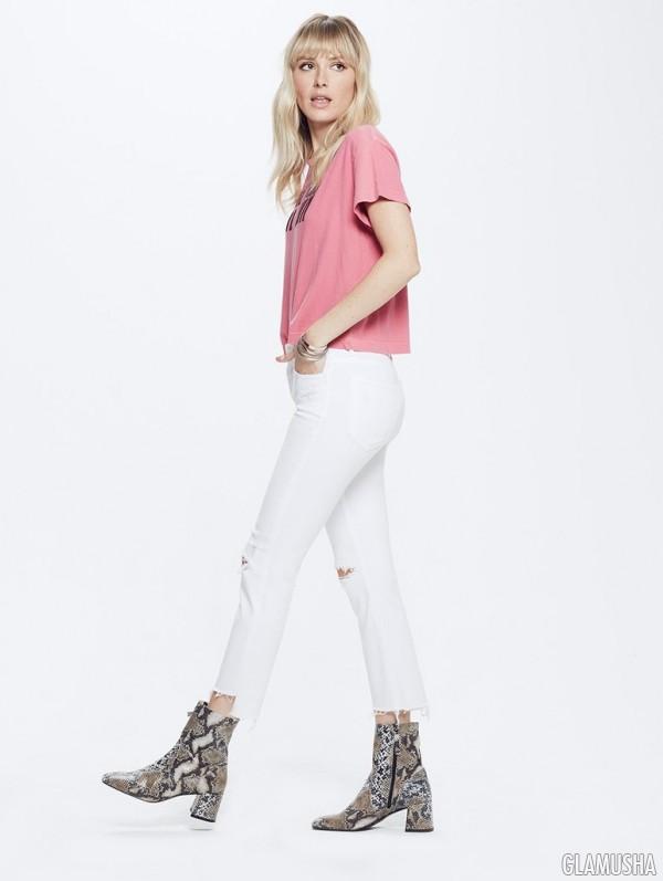 Обрезанные ассиметричные джинсы