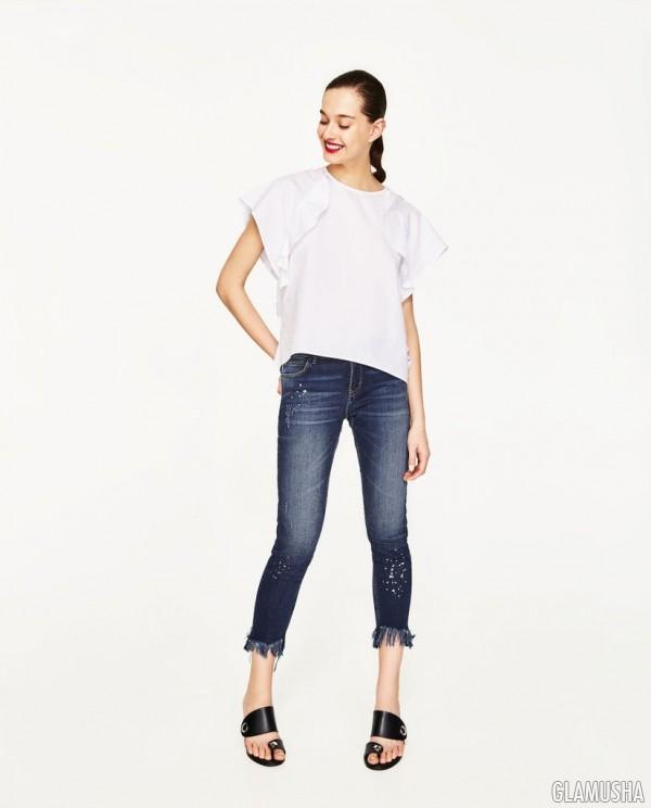 изношенные джинсы