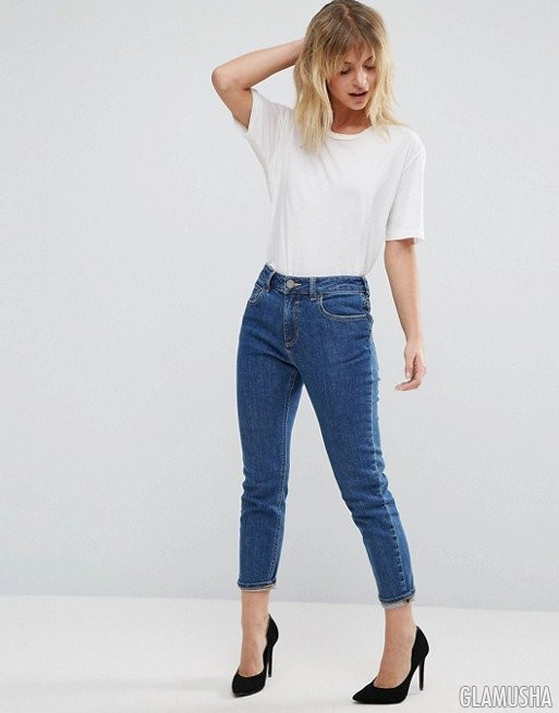 Простые укороченные джинсы