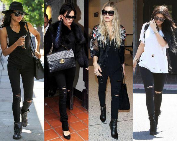 Черные рваные джинсы: классика для дерзких и стильных