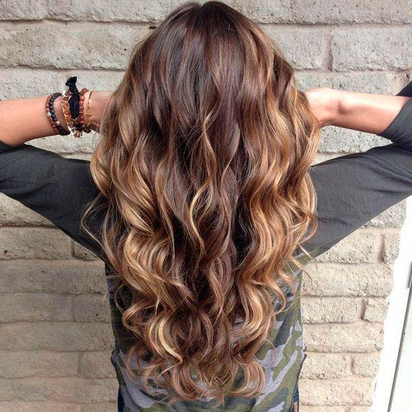 Балаяж на волосах фото