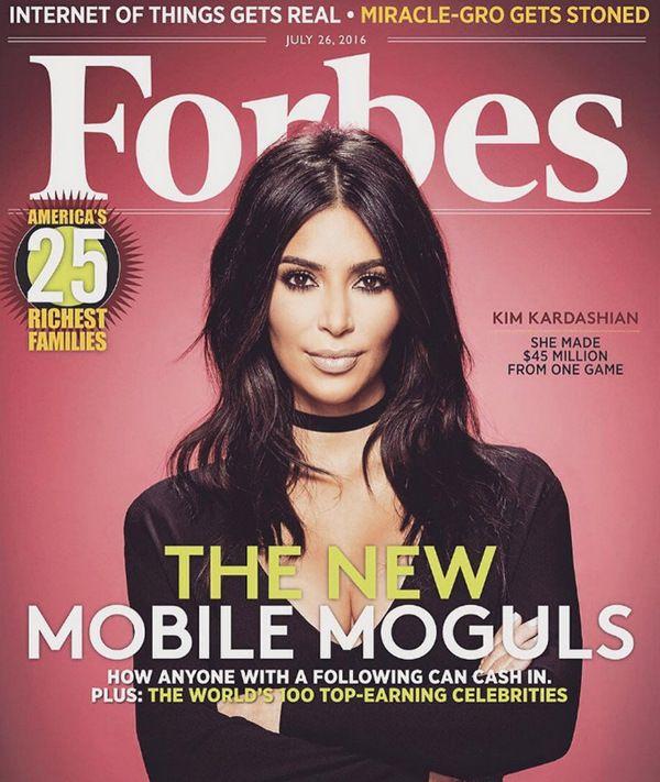 Покорение вершины Forbes – Ким Кардашян на обложке финансового гиганта