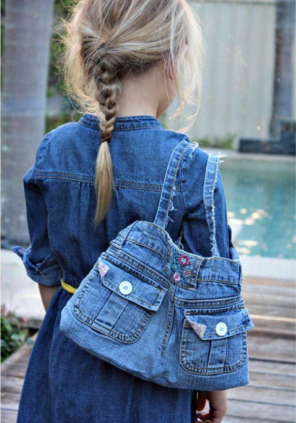 Сумка из старых джинсов своими руками: легко, быстро, просто!