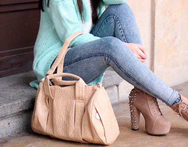 Джинсы с туфлями: носи правильно!