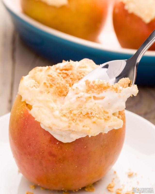 запеченные яблоки рецепт с фото пошагово