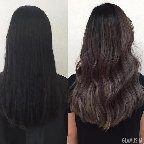 пепельно черный цвет волос