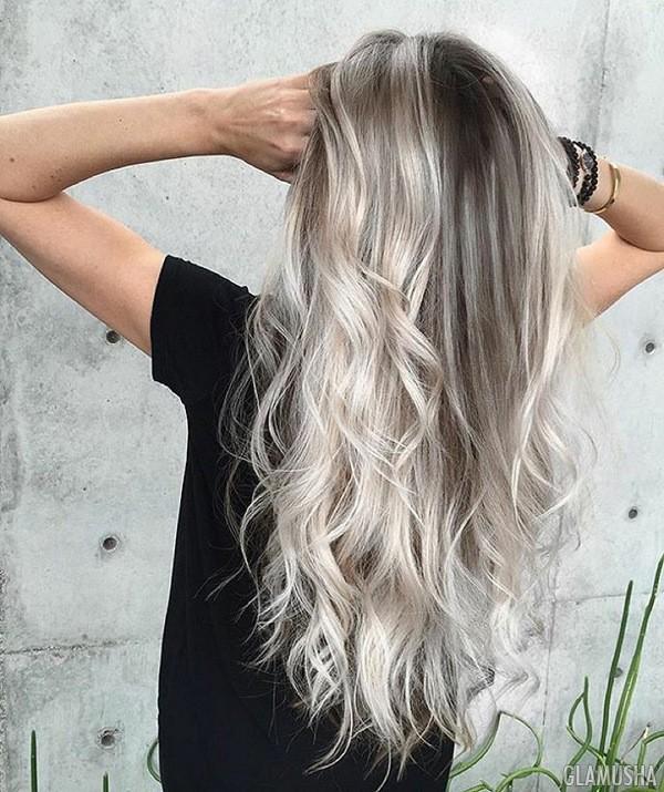брондирование волос в пепельный цвет