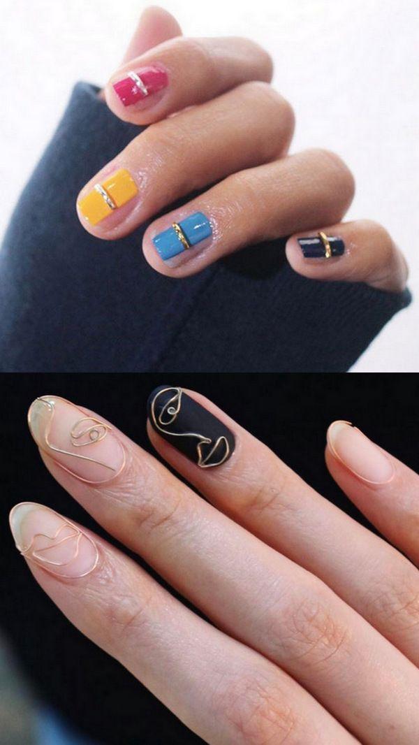 Золотая проволока на ногтях: новая захватывающая тенденция нейл-арта
