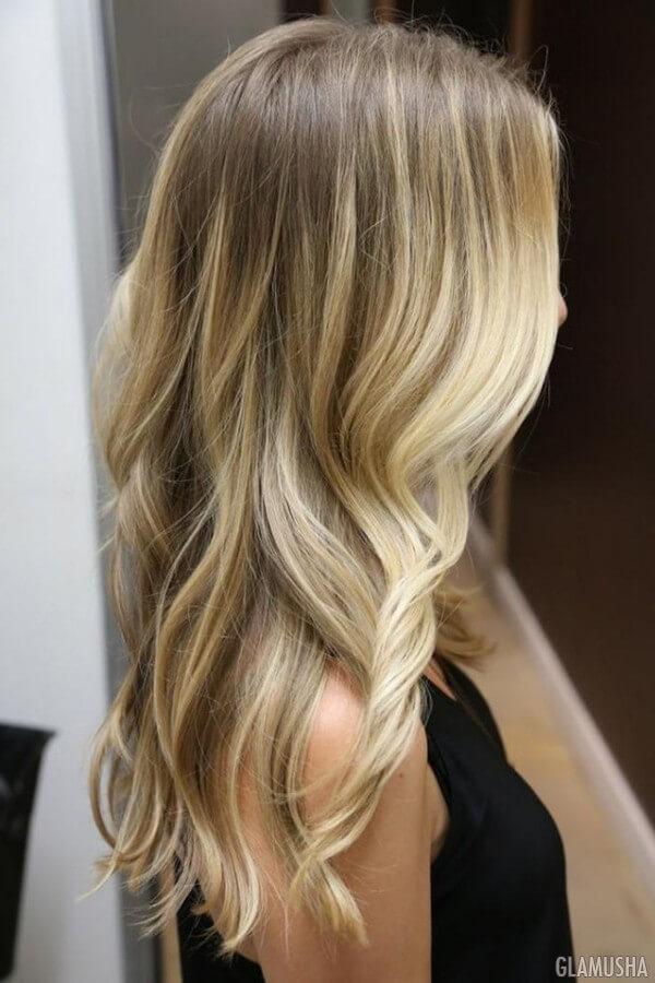 цвет блонд в фото