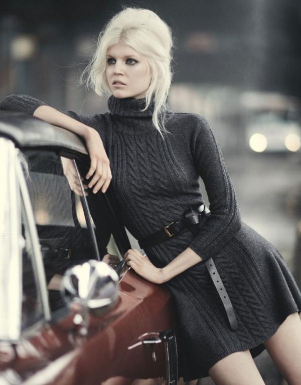 Тренд осени 2015: платье-свитер - с чем носить