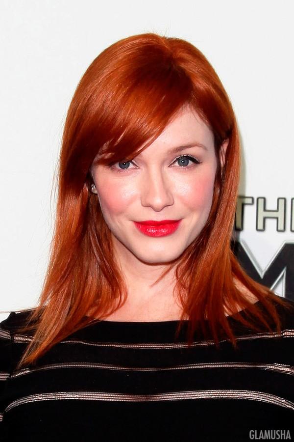 Огненно рыжий цвет волос фото