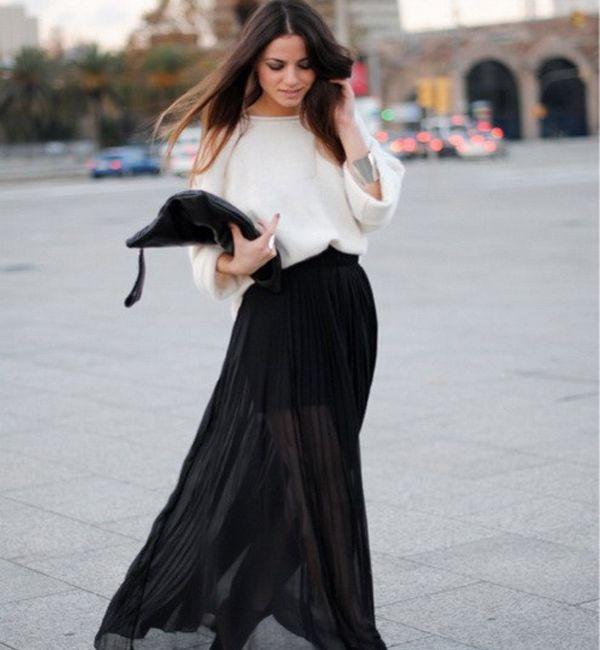 С чем сочетать юбку-макси, чтобы выглядеть стильно