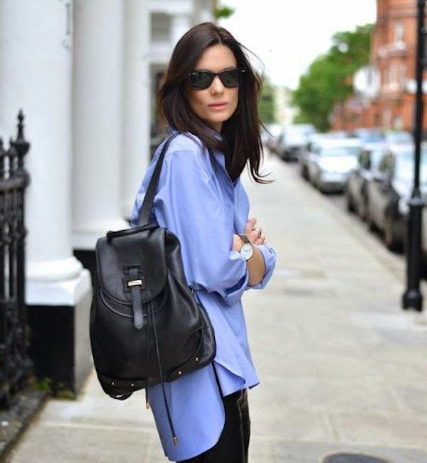 Модные луки с рюкзаком