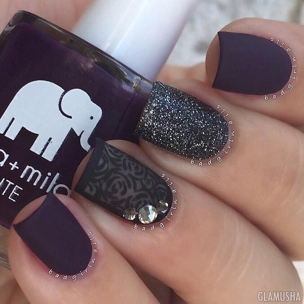 Дизайн ногтей матовых