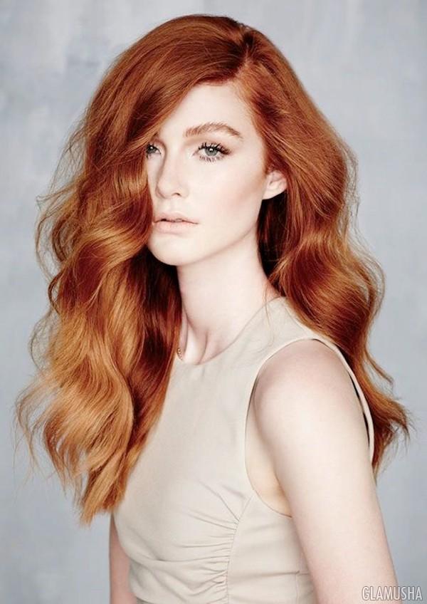 Модные цвета рыжих волос