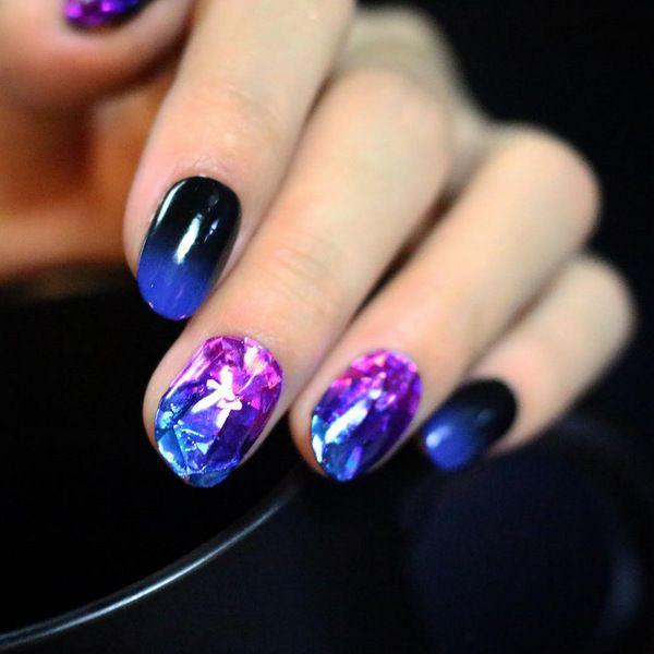 Бриллиантовый дизайн ногтей