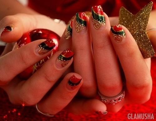 Видео новогодние дизайны ногтей