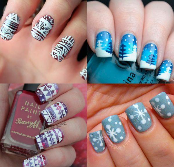 10 простых зимних дизайнов для ногтей