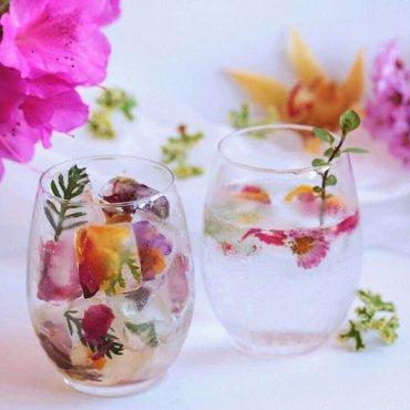 Цветочные кубики льда: украшение свадеб и вечеринок
