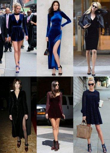 Тренд сезона – платья из бархата: не только для торжественных нарядов