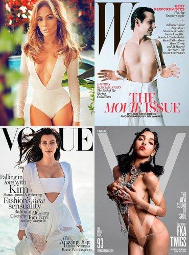 Ким Кардашян разделась для обложки февральского Vogue