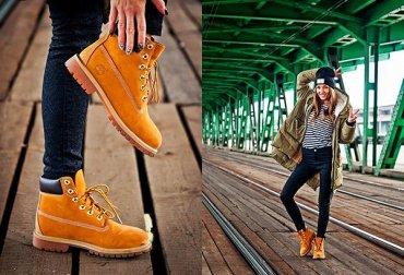 35 женских образов с ботинками Timberland